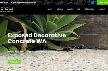 Exposed Decorative Concrete